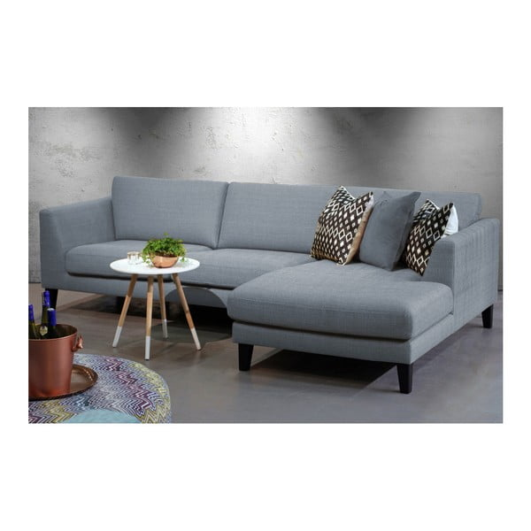 Jasnoszara sofa z szezlongiem po prawej stronie Vivonita Monroe