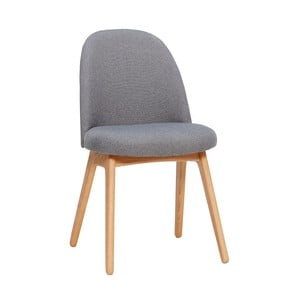 Ciemnoszare krzesło z nogami z drewna dębowego Hübsch Gisla