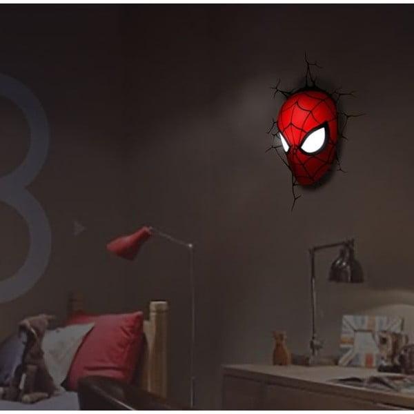 Dziecięca naścienna lampka 3D Spiderman
