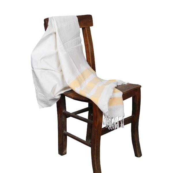 Żółty ręcznik hammam Mimoza Yellow, 90x190cm