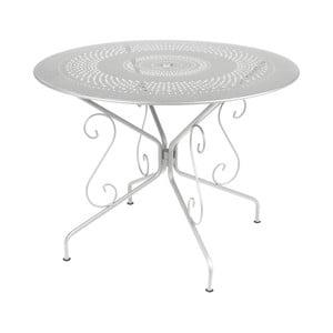Jasnoszary stół metalowy Fermob Montmartre, Ø 96 cm