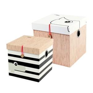 Zestaw 2 dużych pudełek Done by Deer Square
