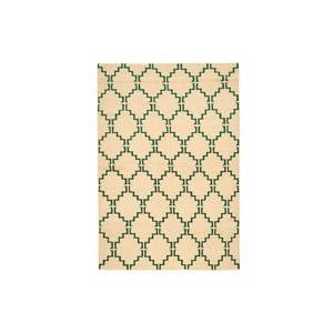 Ręcznie tkany dywan Green Lines Kilim, 158x217 cm