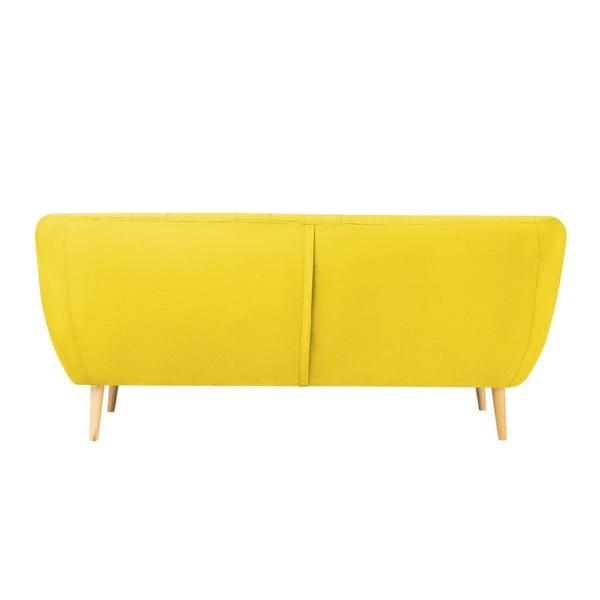 Żółta sofa 3-osobowa z jasnymi nogami Mazzini Sofas Sardaigne