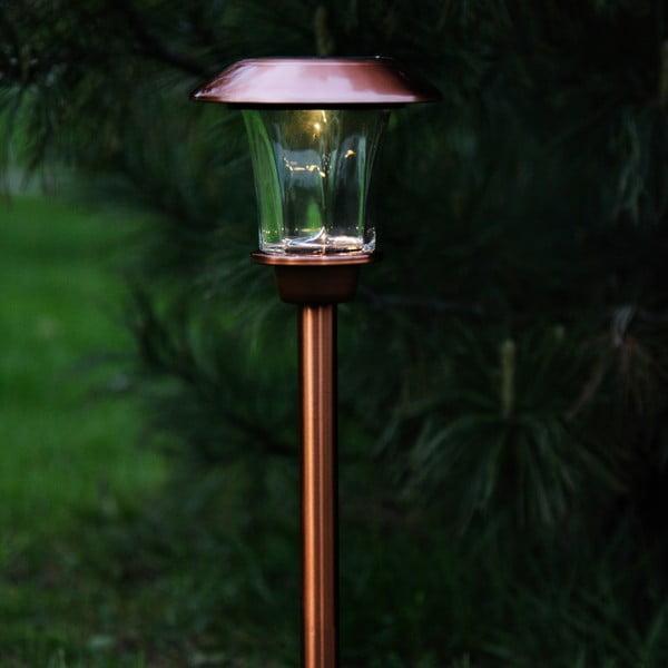 Miedziana lampa ogrodowa LED Best Season Minimalista