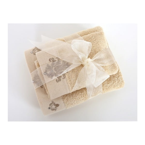Zestaw 2 beżowych ręczników Irya Home Spa, 30x50 cm i 50x90 cm