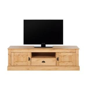 Naturalna szafka pod TV z drewna sosnowego Støraa Tommy