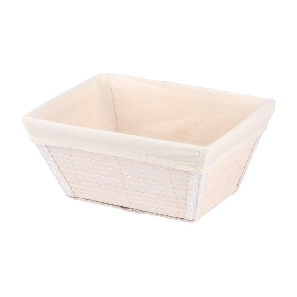 Biały koszyk Wenko Bamboo, szer. 19,5 cm
