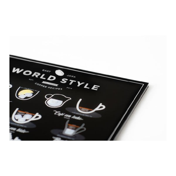 Plakat Follygraph World Style Coffee, 21x30 cm