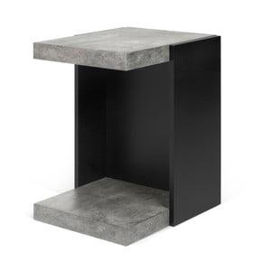 Czarny stolik z elementami w kolorze betonu TemaHome Klaus