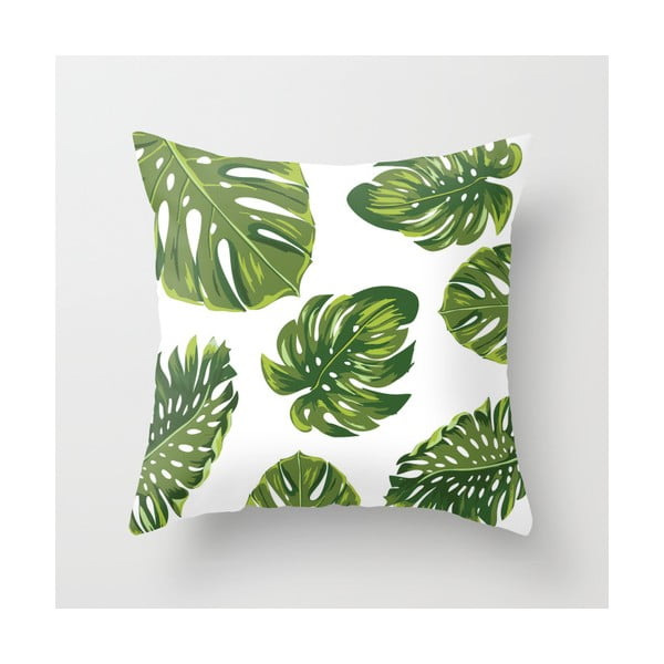 Poszewka na poduszkę Palm White, 45x45 cm