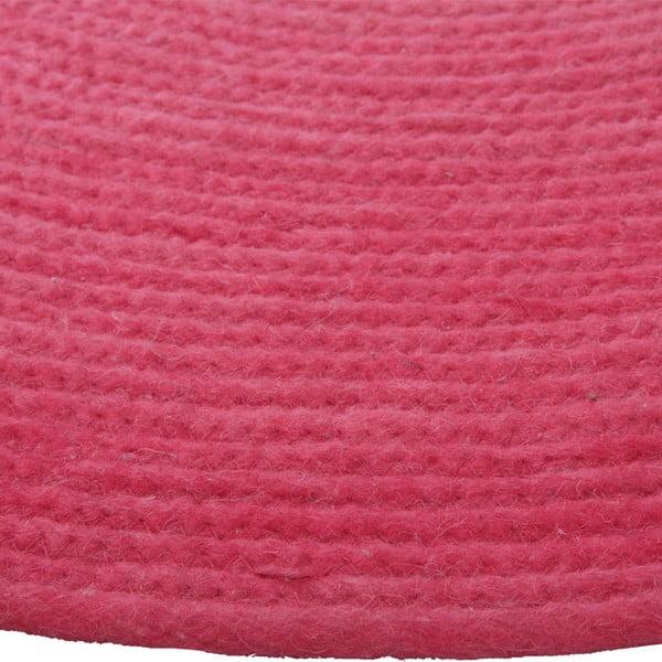 Różowy dywan dziecięcy Tapis, Ø90 cm
