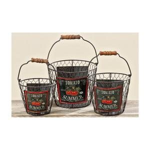 Zestaw 3 koszyków Tomato