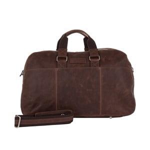 Męska torba podróżna Vintage Overnight Brown