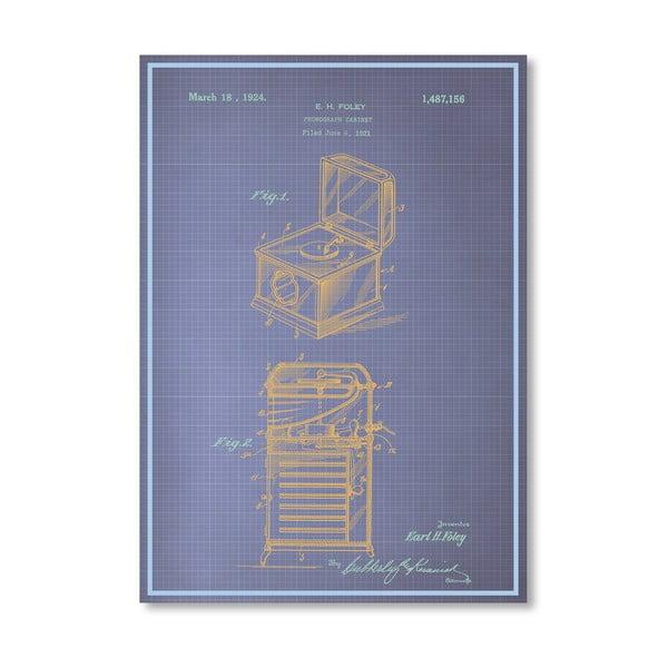 Plakat Phonograph Cabinet, 30x42 cm