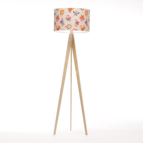 Wielobarwna lampa stojąca 4room Artist, brzoza, 150 cm