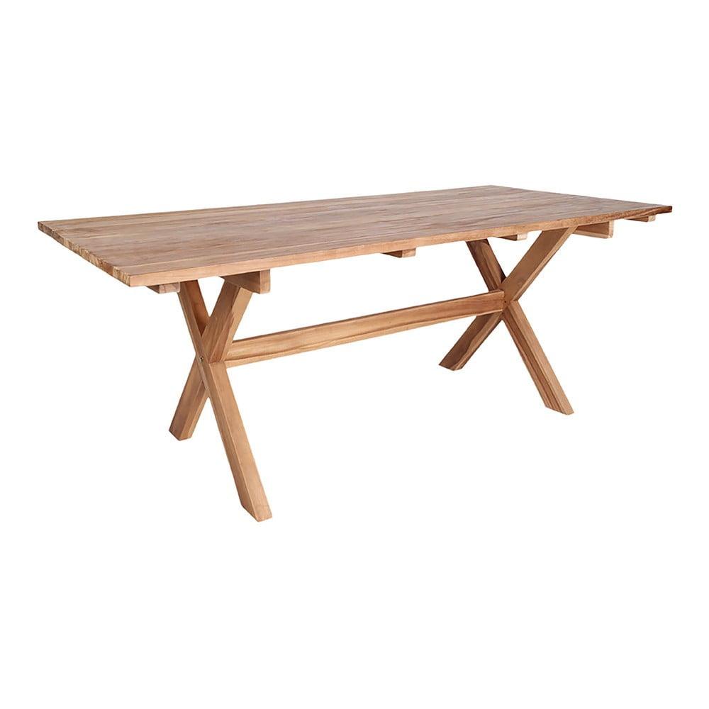 Stół ogrodowy do jadalni z drewna tekowego z recyklingu House Nordic Murcia, dł. 200 cm
