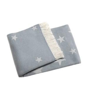 Niebieski koc Stars, 140x180 cm