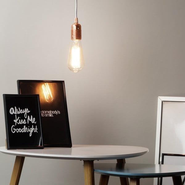 Miedziano-biała lampa wisząca Bulb Attack Uno