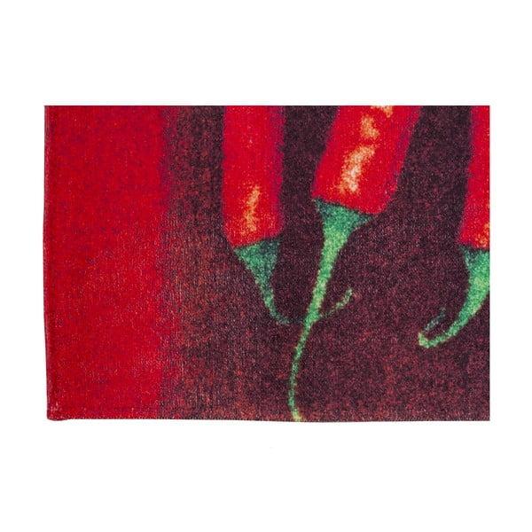 Wysoce wytrzymały dywan kuchenny Floorita Peperoncini, 60x110 cm