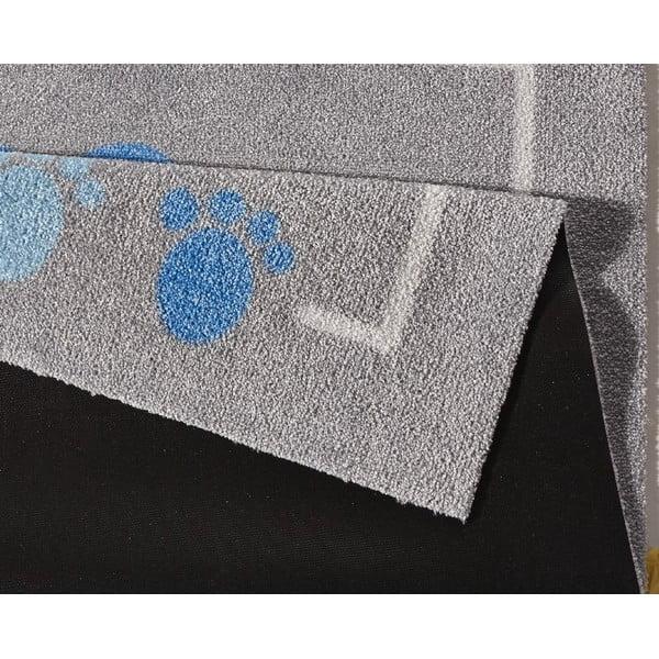 Niebiesko-szary dywan Zala Living Teddy, 100x100 cm