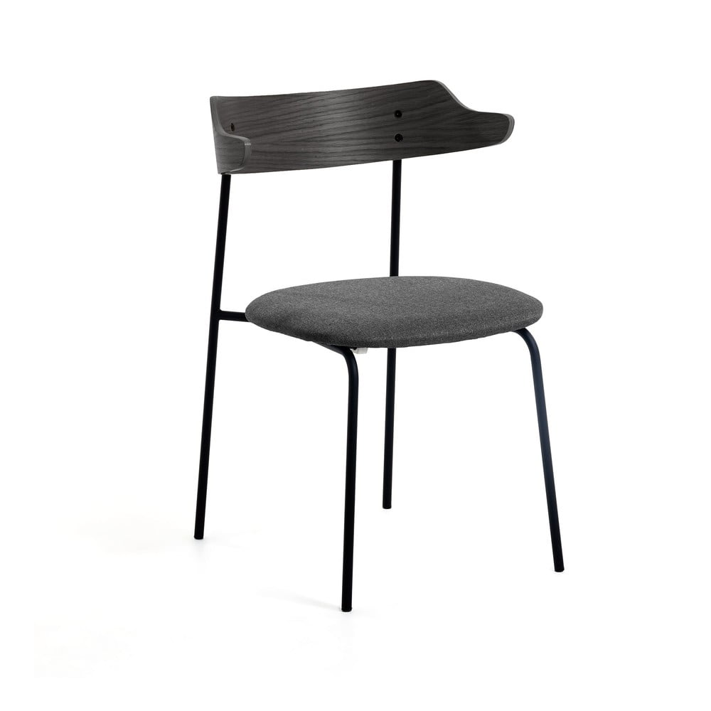 Ciemnoszare krzesło do jadalni La Forma Olympia