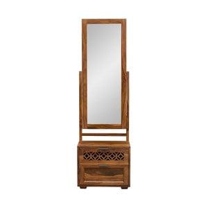 Szafka z litego drewna palisandru z lustrem Massive Home Rosie