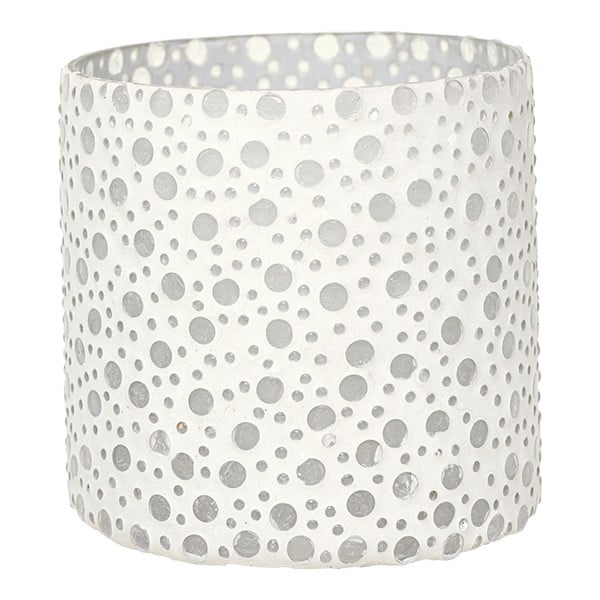 Świecznik Dots in White, 12,5 cm