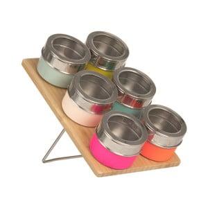 Zestaw 6 magnetycznych pojemników na przyprawy Sorbet Pop
