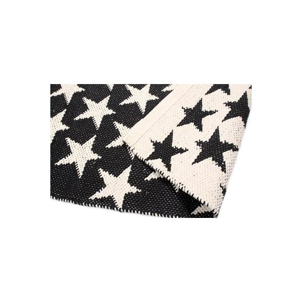 Dwustronny dywan Black Stars, 135x65 cm