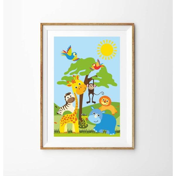 Plakat Safari, 70x50 cm