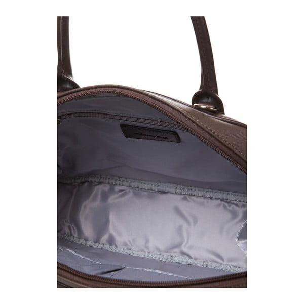 Skórzana torebka do ręki Marta Ponti Handy, jasnobrązowa/ciemnobrązowa