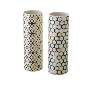 Zestaw 2 ceramicznych wazonów Unimasa Pattern
