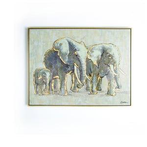 Obraz ręcznie malowany Graham & Brown Elephant Family,80x60cm