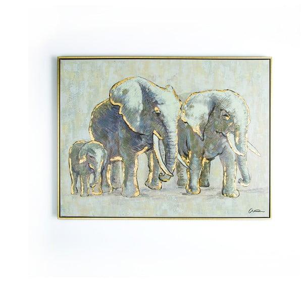 Ręcznie malowany obraz Graham & Brown Elephant Family,80x60cm
