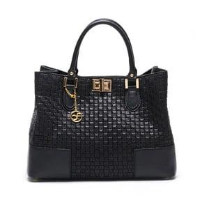 Skórzana torebka Coge, czarna