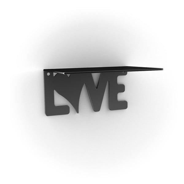Półka Love, czarna