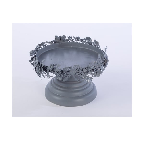 Metalowa patera Pillar, szara