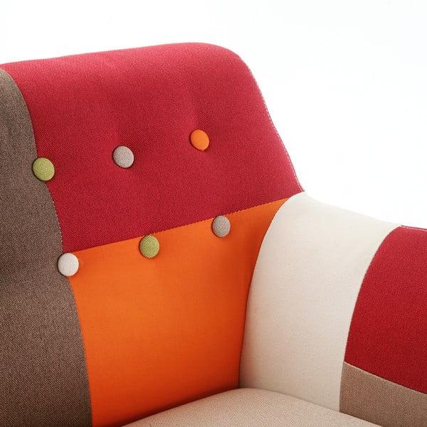 Fotel Red Patchwork