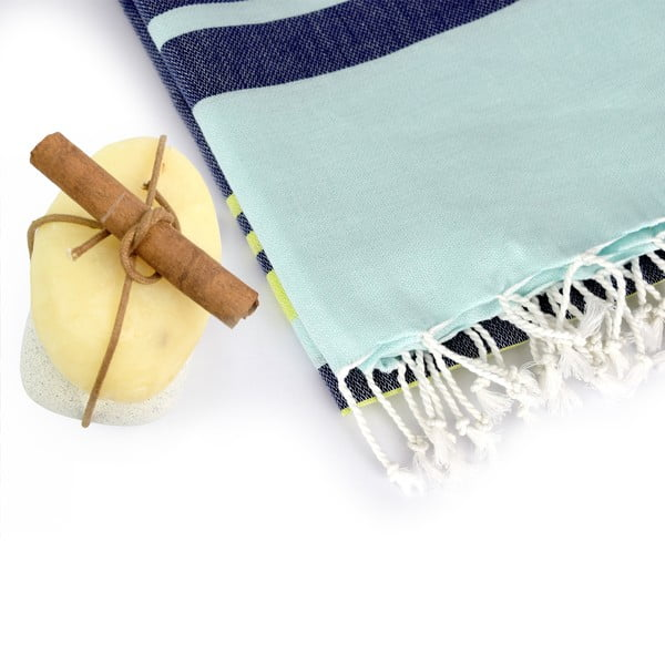 Zestaw 2 ręczników hammam HF Living Lush Blue