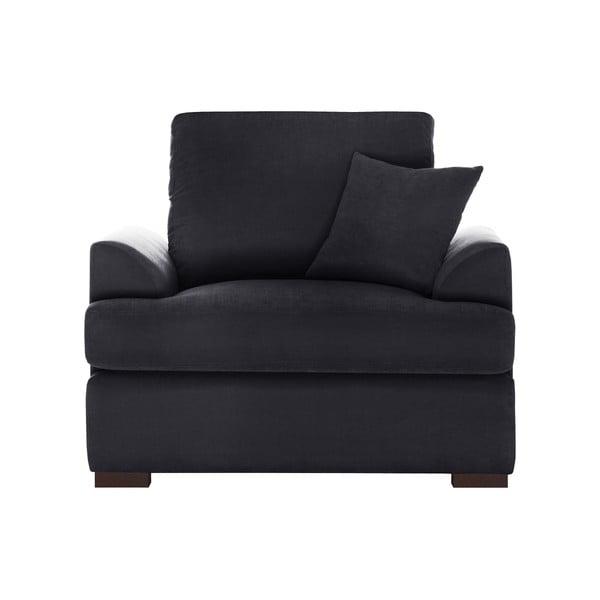 Fotel Jalouse Maison Irina, czarny