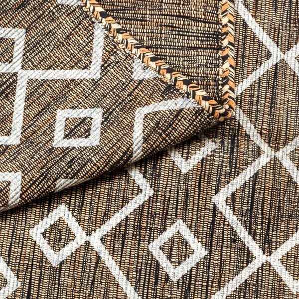 Brązowy dywan ręcznie tkany Navaei & Co Kilim Elegant 52, 110x60 cm
