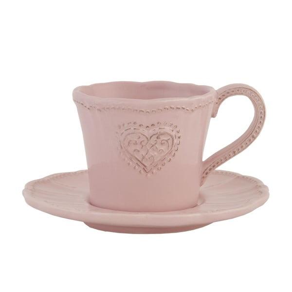 Ceramiczny kubek z podstawką Clayre Roses