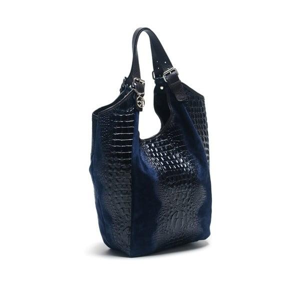 Skórzana torebka Carla Ferreri 838 Blu