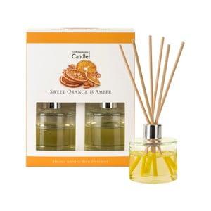 Zestaw 2 dyfuzorów zapachowych o zapachu pomarańczy i bursztynu Copenhagen Candles Sweet, 40 ml