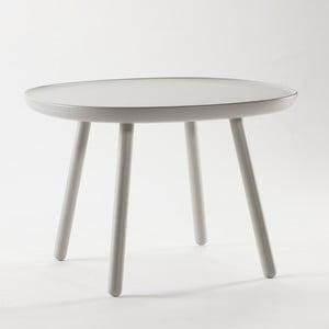 Szary stolik z litego drewna EMKO Naïve Large