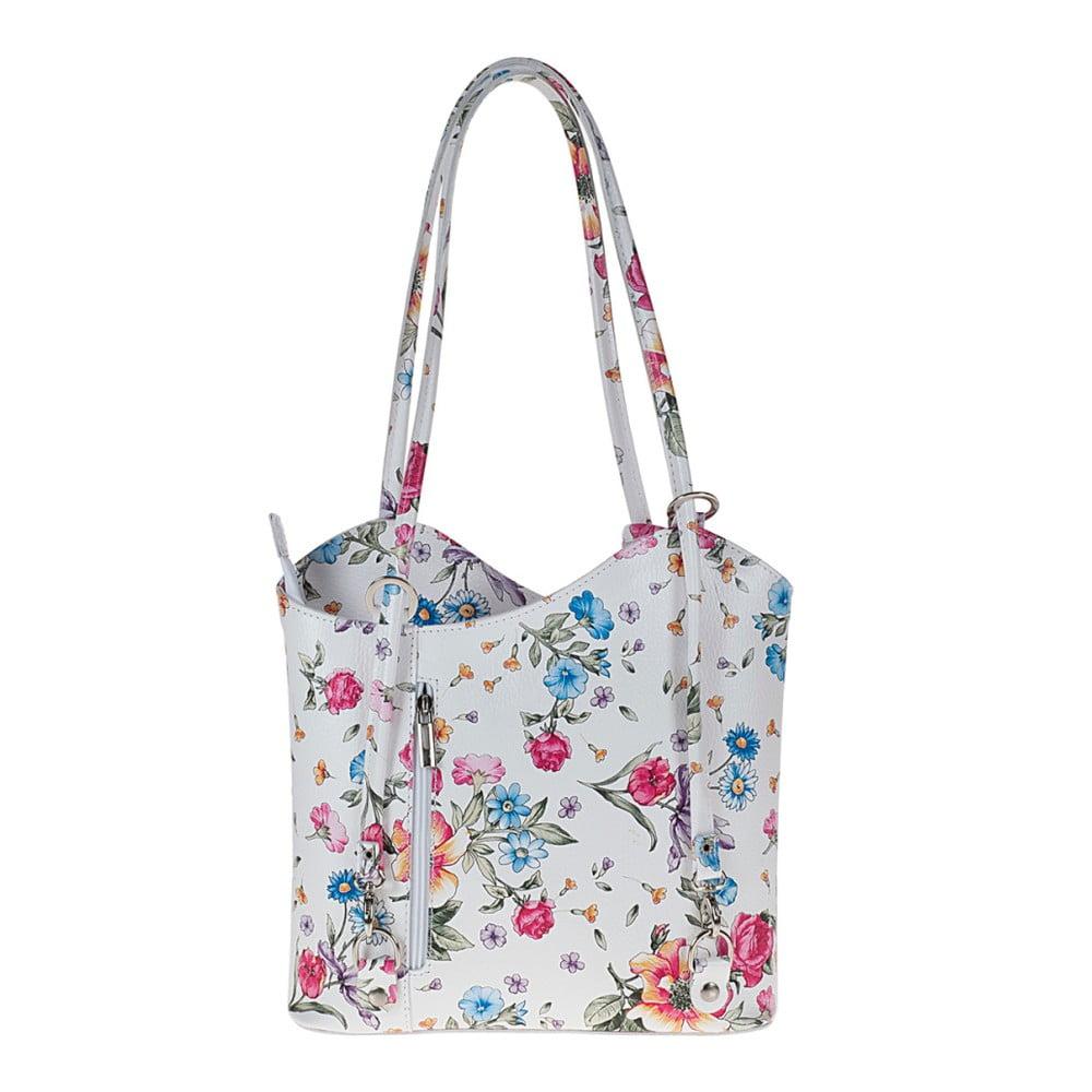 17ea6fdd2a6d6 Biała skórzana torebka w kwiaty Pitti Bags Maude ...