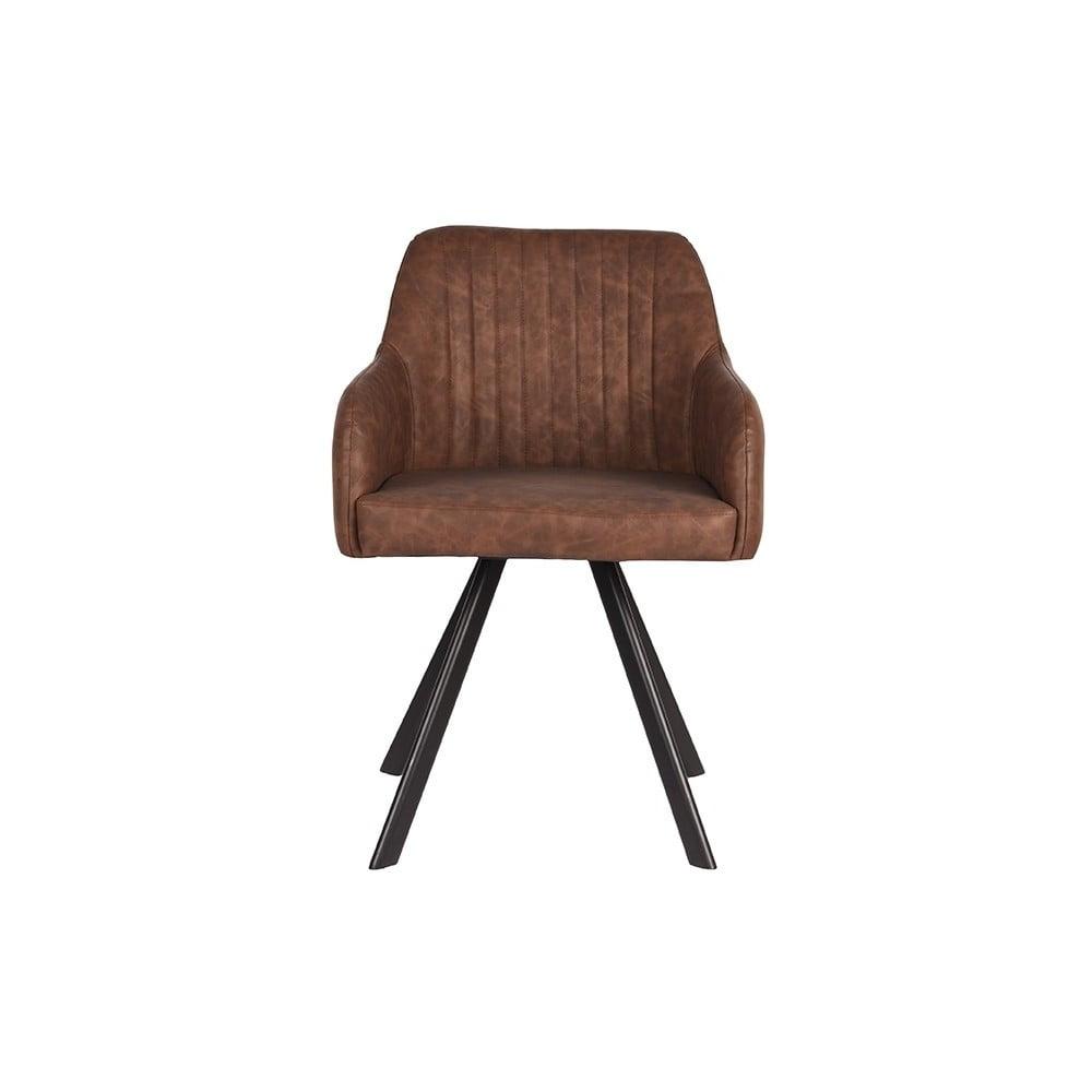 Ciemnobrązowe krzesło do jadalni LABEL51 Floor 55
