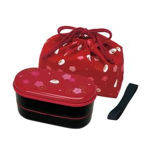 Pudełko na lunch z woreczkiem Furawa Red, 630 ml