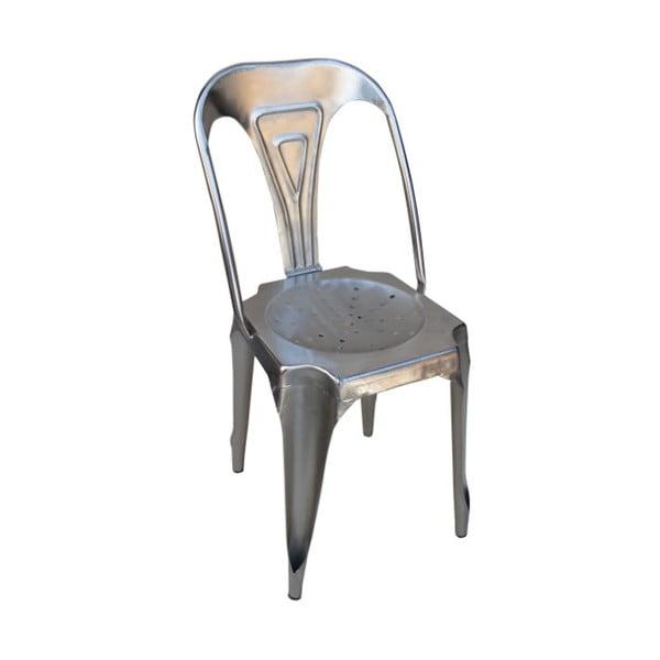 Metalowe krzesło Chaise, szare